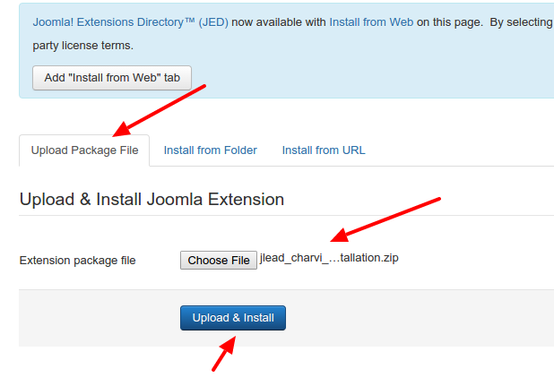 Joomla Template Installation And System Requirements