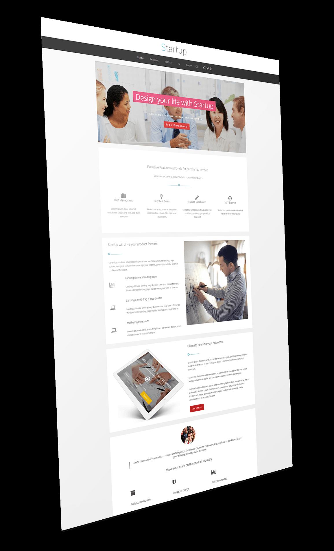 Startup Joomla Template