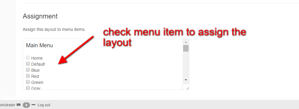 assign joomla menu item