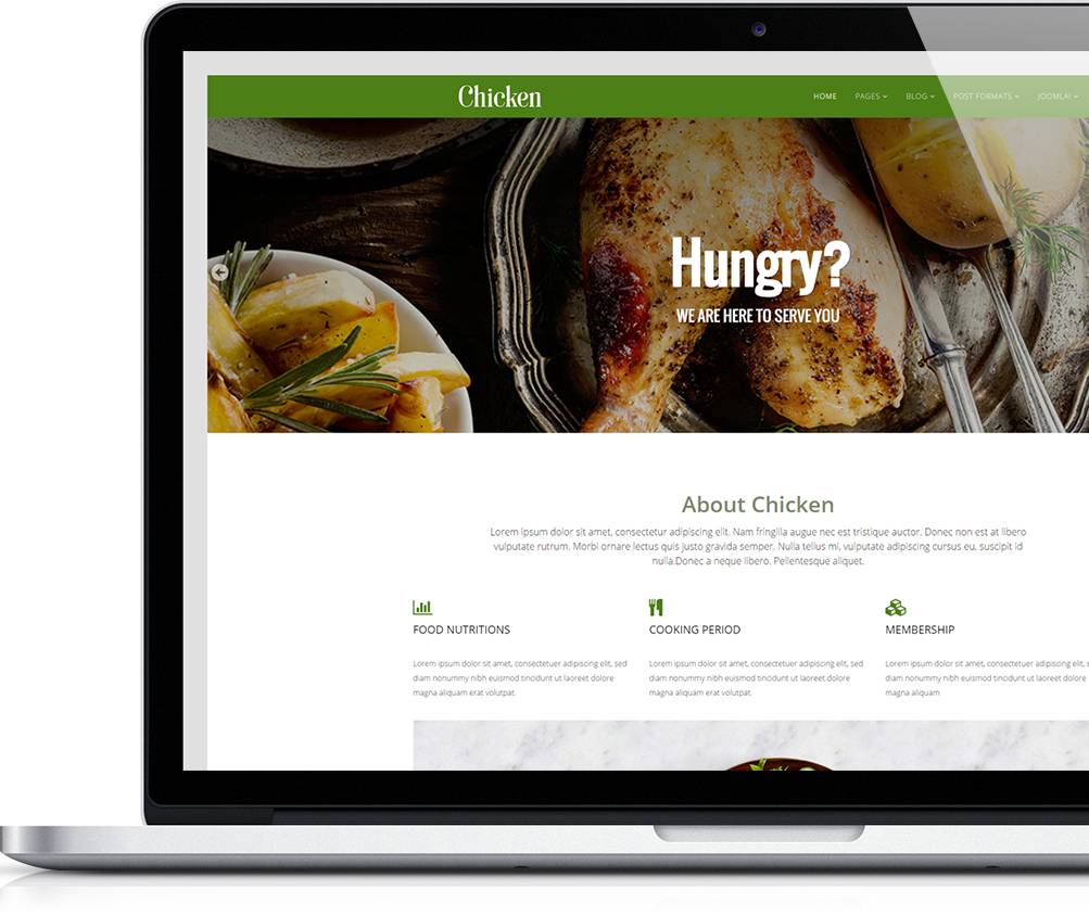 Free Food Joomla Template