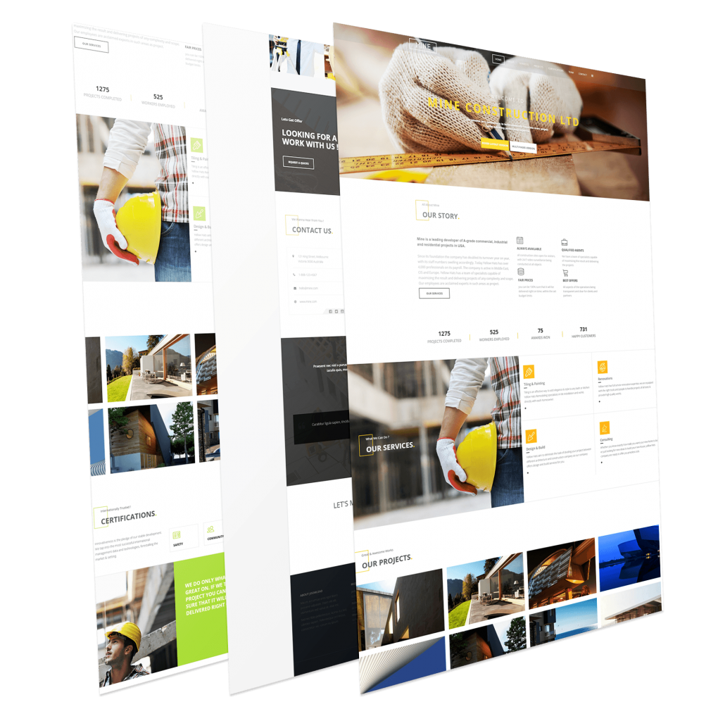 Construction One Page Joomla Template