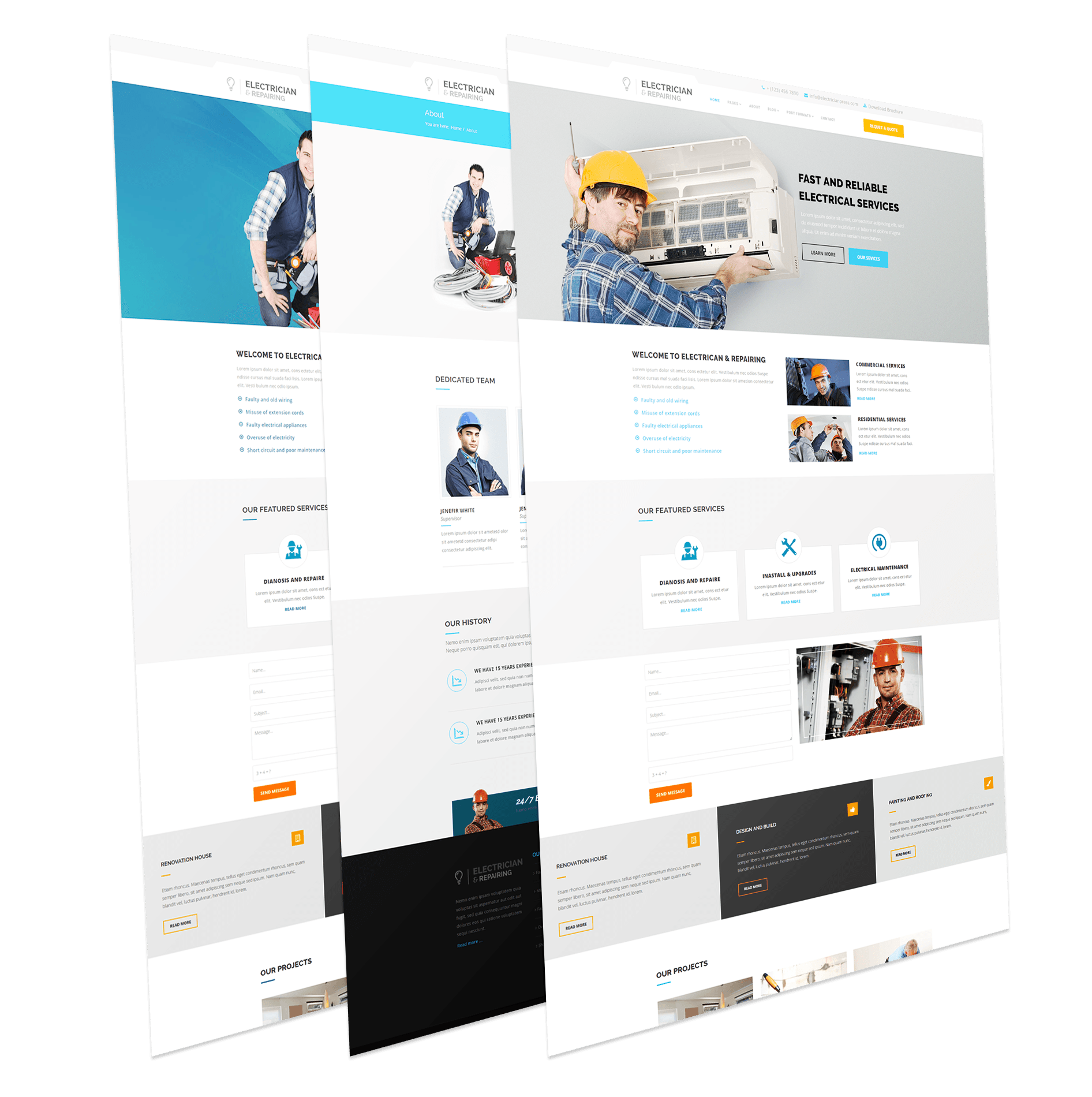 Electrician and Repairing Joomla Template