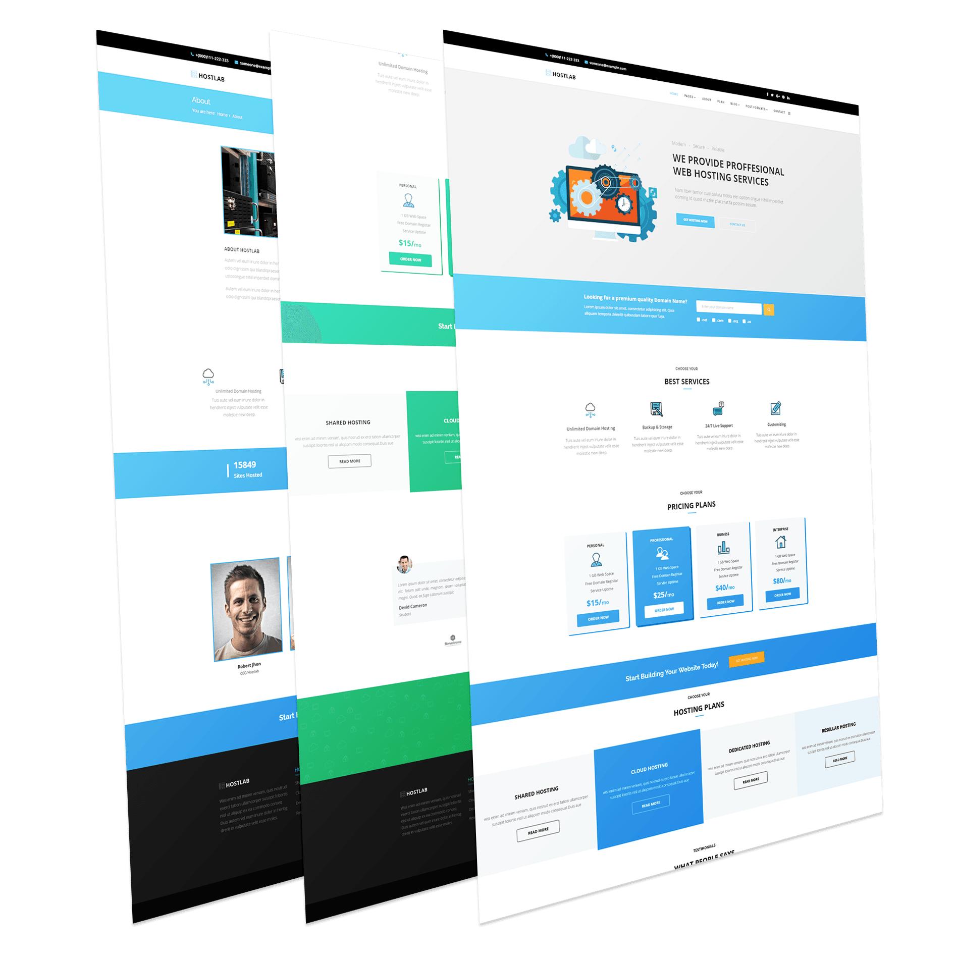 Domain & Hosting Responsive Template