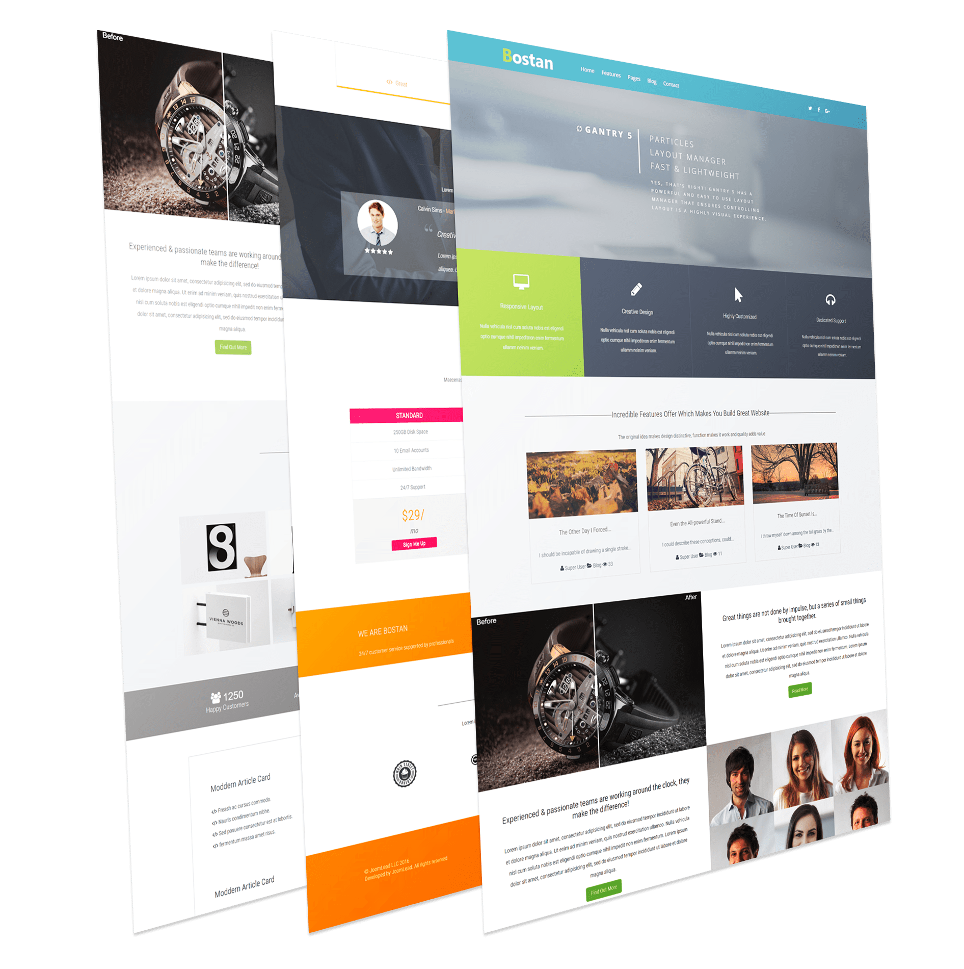 Bostan Joomla Template