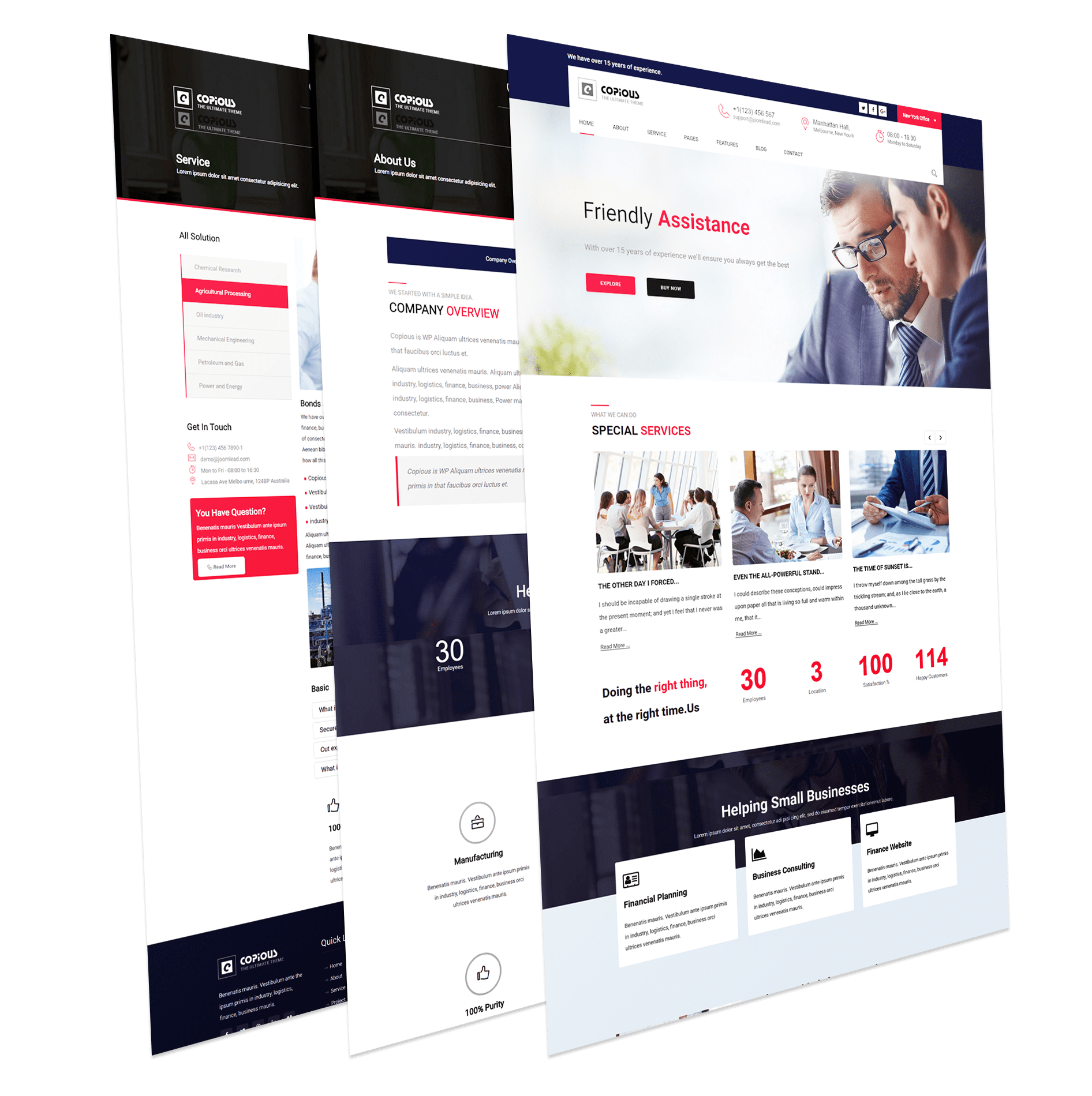 Copious - Joomla template that is help full for Corporate Business