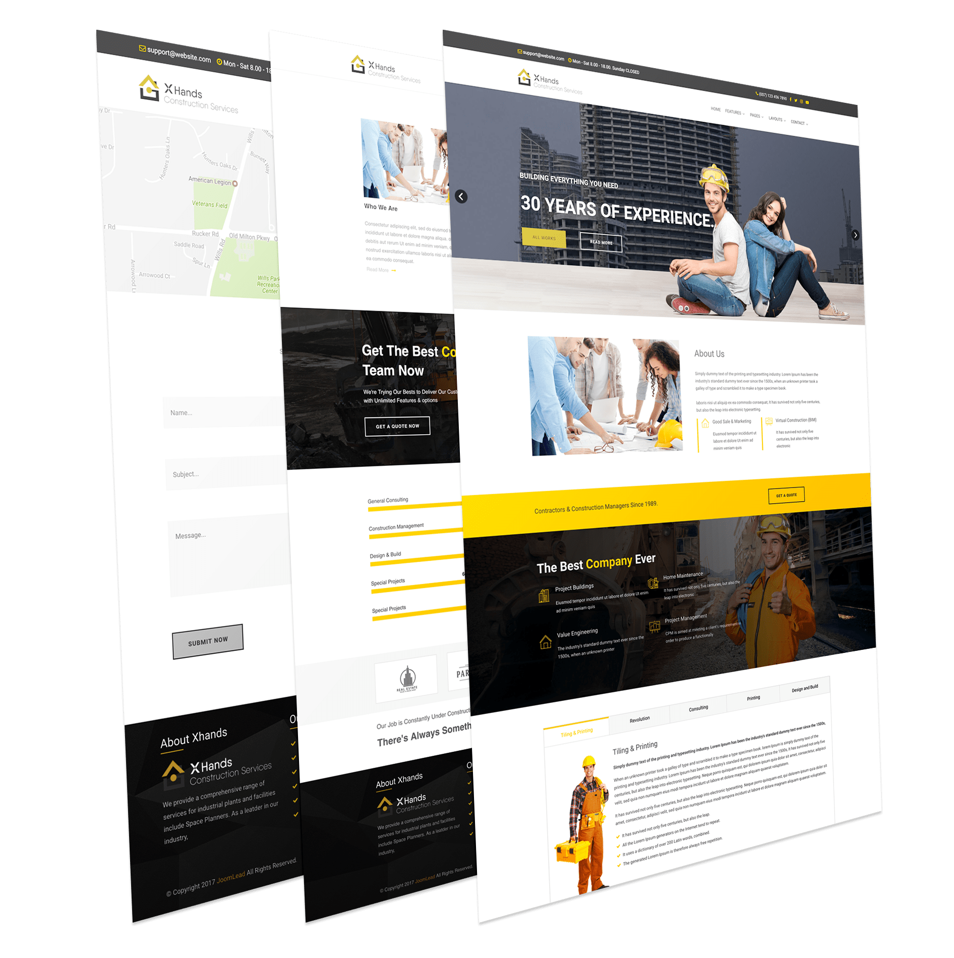 Construction Business Joomla Template