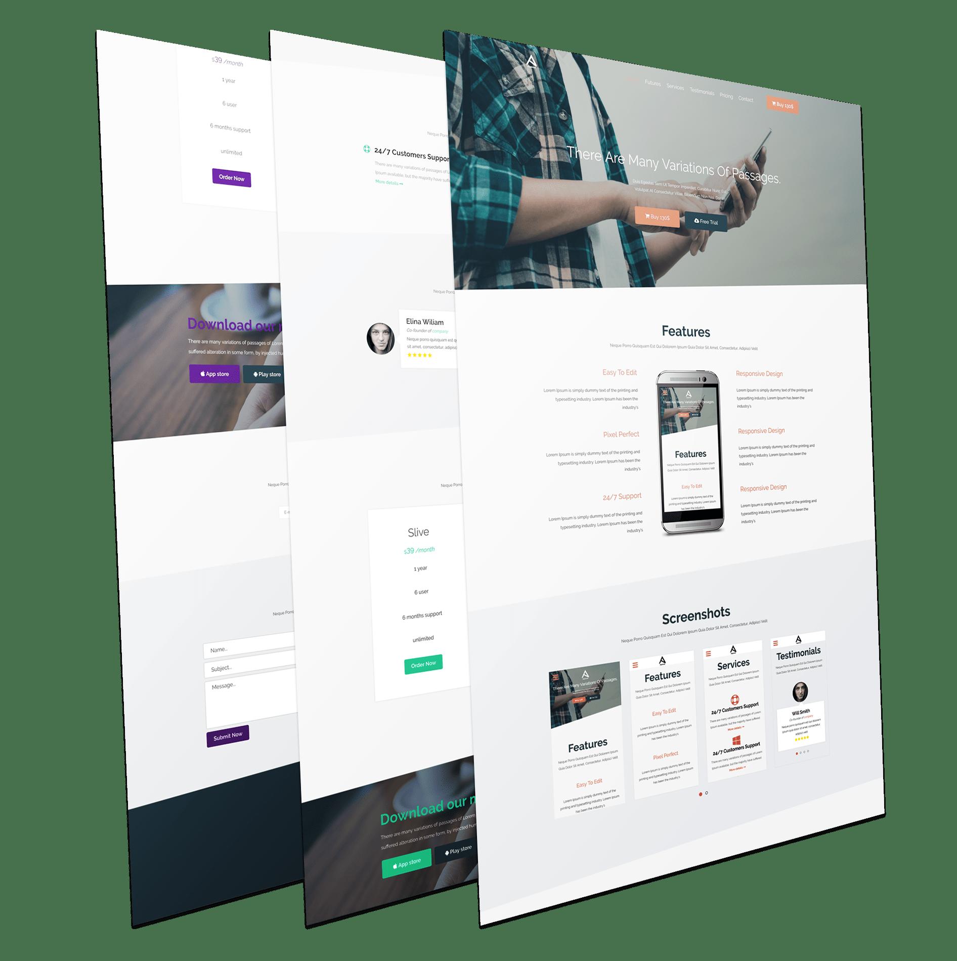 Joomla Landing Page Template