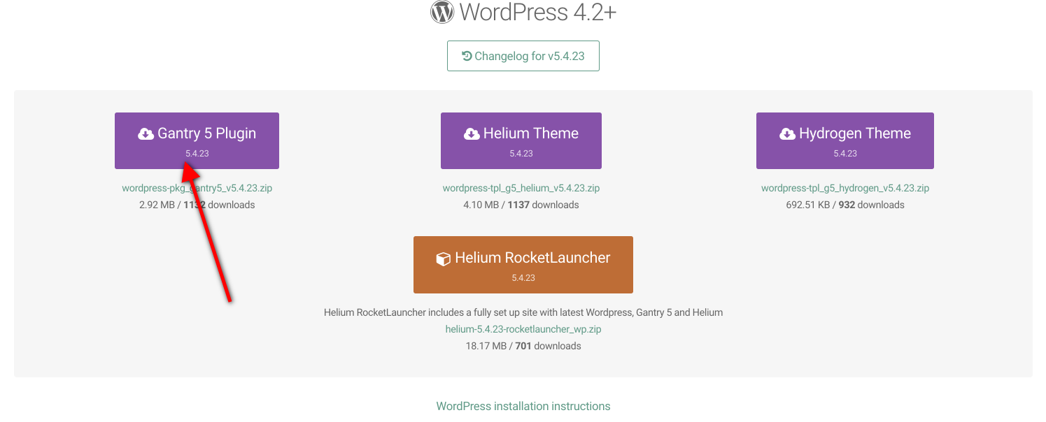 Gantry5 framework wordpress