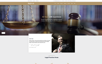 Lawyer & Attorney Joomla Template